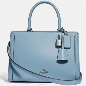 COACH Small Zoe Carryall F72667 Cornflower/Silve